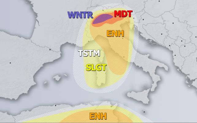 allerta meteo italia 4 aprile