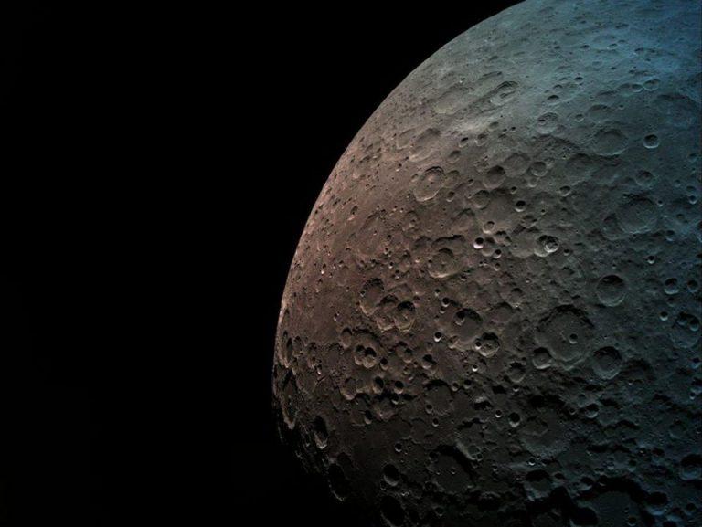 Immagine della luna scattata da Bereshett. Credit: SpaceIL