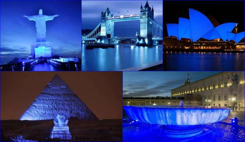monumenti in blu