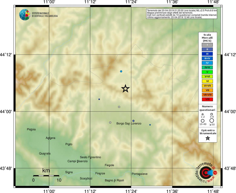 terremoto Firenzuola