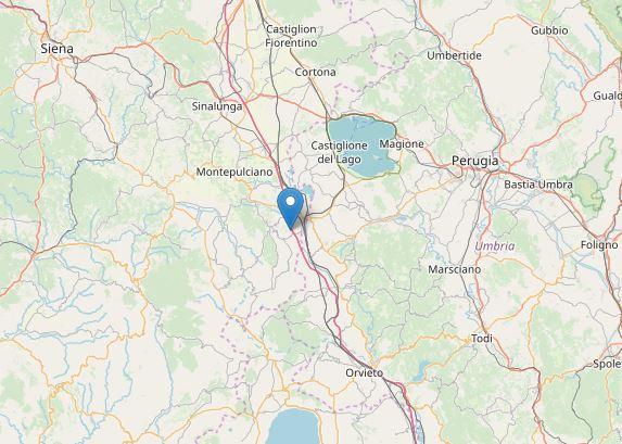 terremoto Siena Cetona