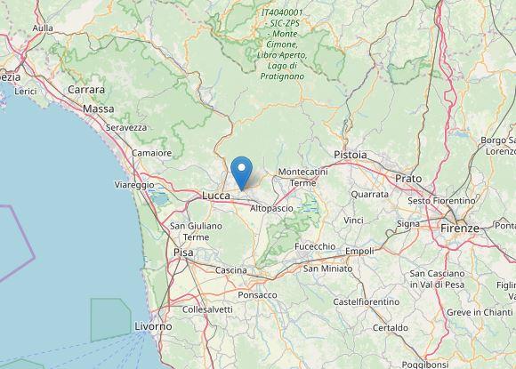 Terremoto Lucca: scossa avvertita a Capannori