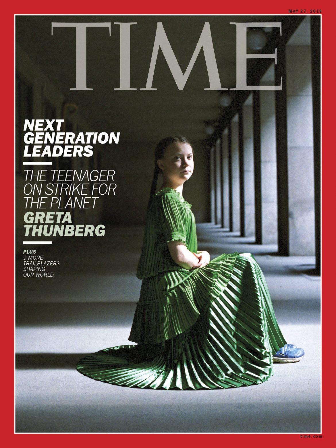 Greta Thunberg time magazine copertina