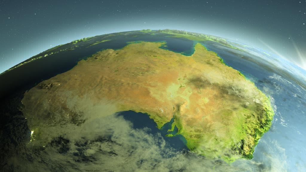 Australia dallo spazio Nasa