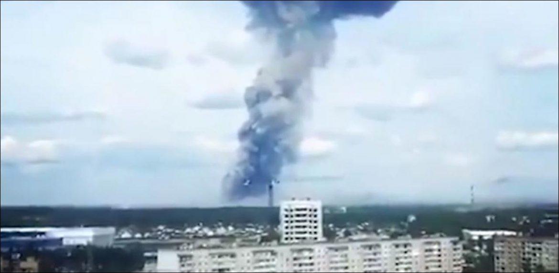 esplosione fabbrica russa tritolo