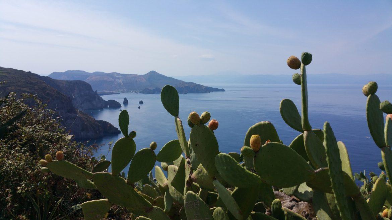 isole eolie sicilia panorama fichi d'india