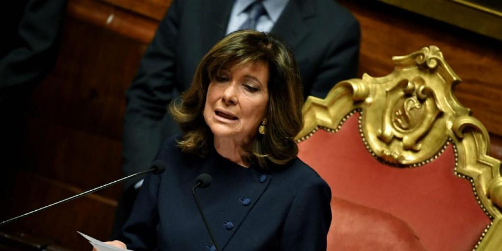 presidente del Senato Elisabetta Casellati