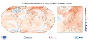 temperatura giugno 2018 maggio 2019