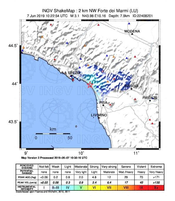 terremoto forte dei marmi