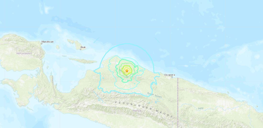 terremoto papua indonesia