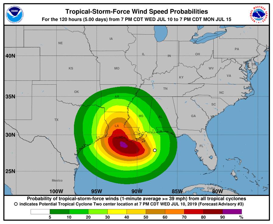 Uragano Golfo Messico