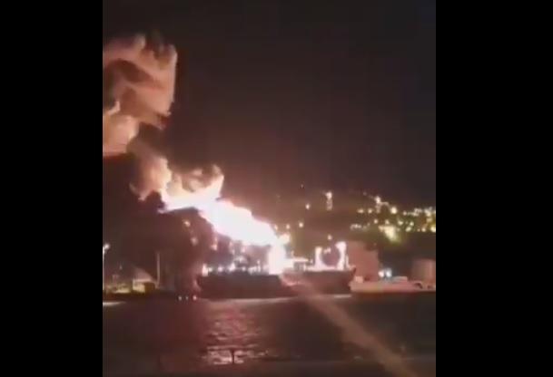 incendio petroliera italiana