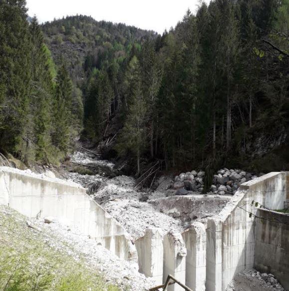 torrente Rudan, in Comune di Vodo di Cadore