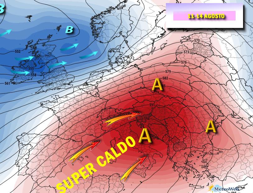 Previsioni meteo: giovedì 8 Agosto
