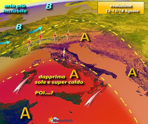 Promesse di temporali, l'ondata di caldo africano ha le ore contate
