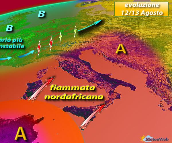 Fine del caldo africano, le previsioni di Perugia Meteo