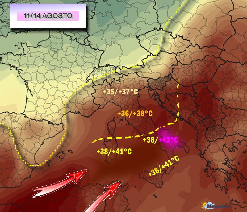 Meteo domani: forti acquazzoni in arrivo, le temperature restano altissime