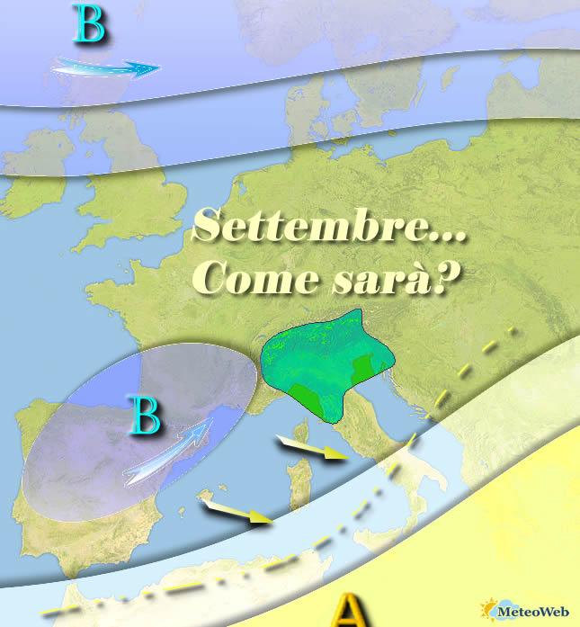 Le previsioni meteo di domenica 25 agosto