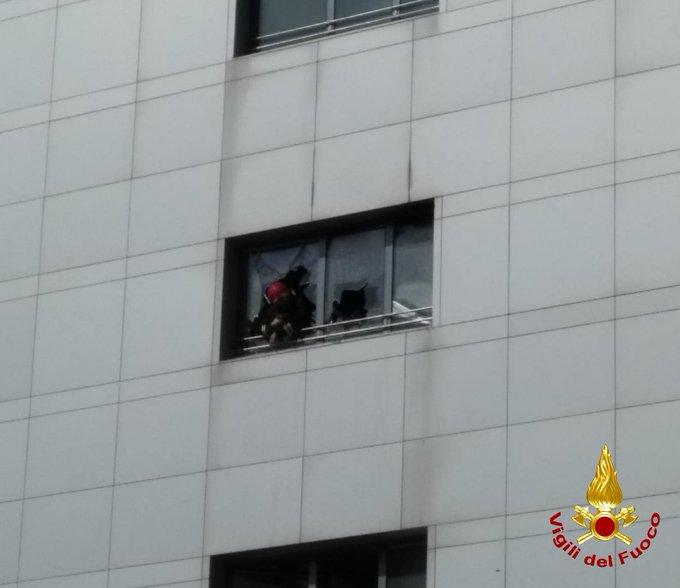 incendio ospedale Papa Giovanni XXIII