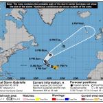 """L'Oceano Atlantico """"raddoppia"""": gli Uragani Dorian e Gabrielle si dirigono verso l'Europa [MAPPE]"""