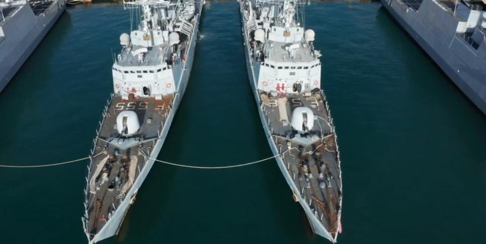 ammaina bandiera corvette marina militare