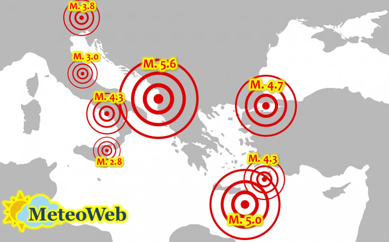 terremoti italia mediterraneo 22 24 settembre 2019