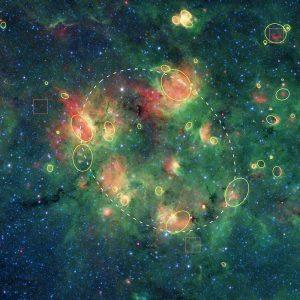 Regione formazione stellare Aquila SpitzerNASA