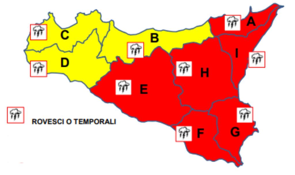 allerta meteo sicilia 25 ottobre 2019