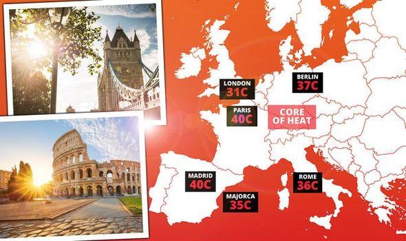 caldo europa meteo estate