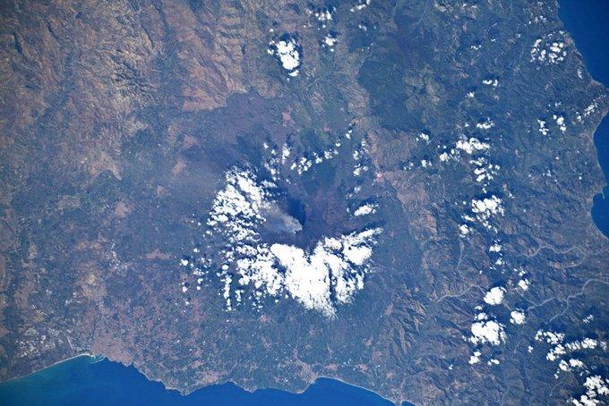 etna in eruzione Luca Parmitano