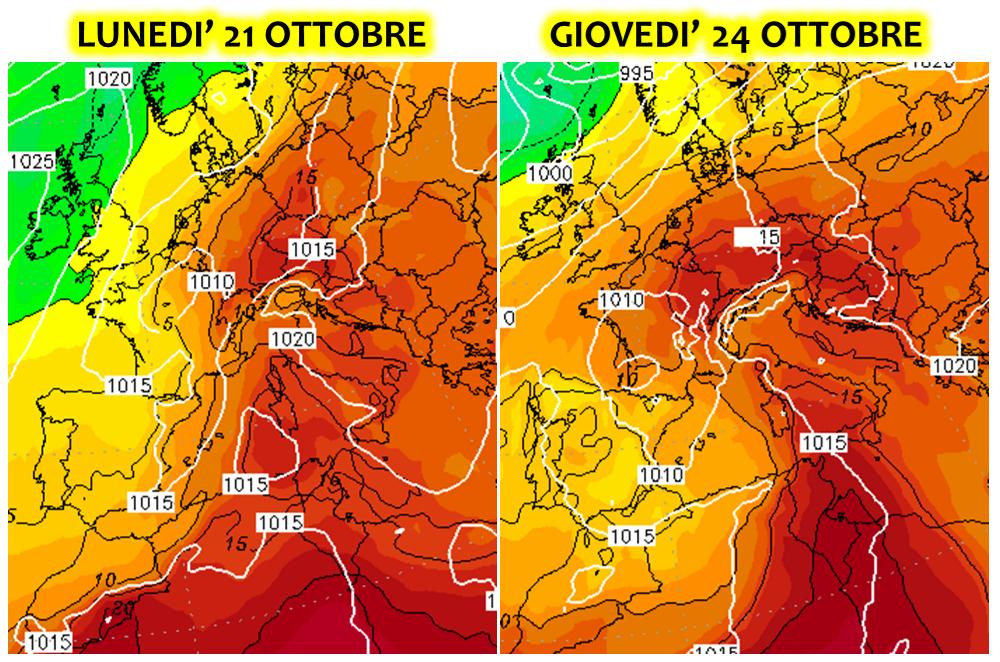 meteo ottobre 2019 italia europa caldo scirocco