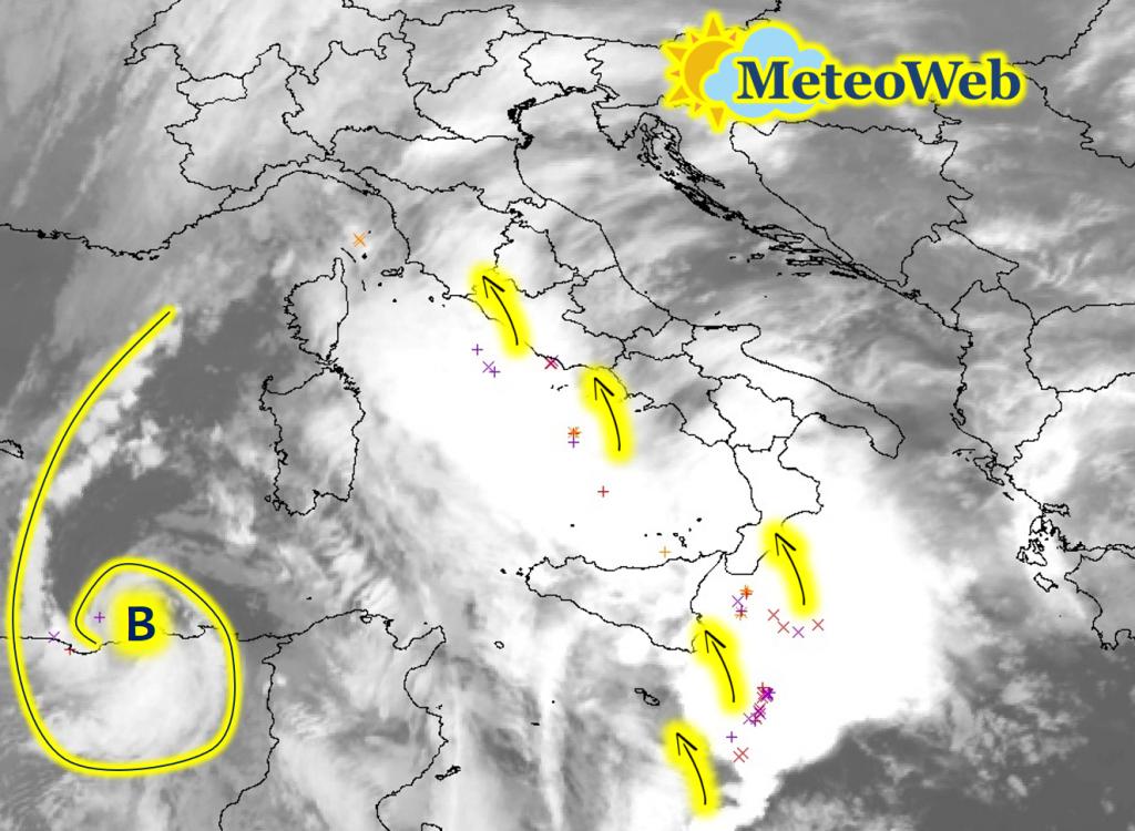 Maltempo Ciclone Mediterraneo Italia 11 Novembre 2019