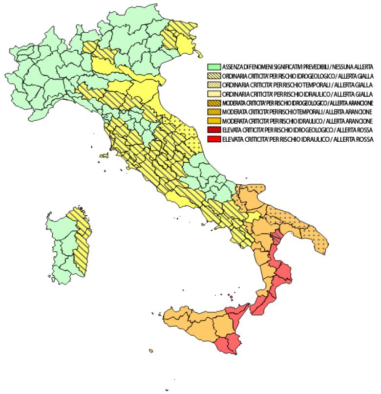 Allerta Meteo Allarme Rosso Al Sud Per Il Ciclone Mediterraneo Situazione Estrema Avvisi E Bollettini Stretto Web