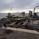 Maltempo Venezia: distrutti 3 pontili e caduti 30 metri di muro perimetrale dell'isola di San Servolo
