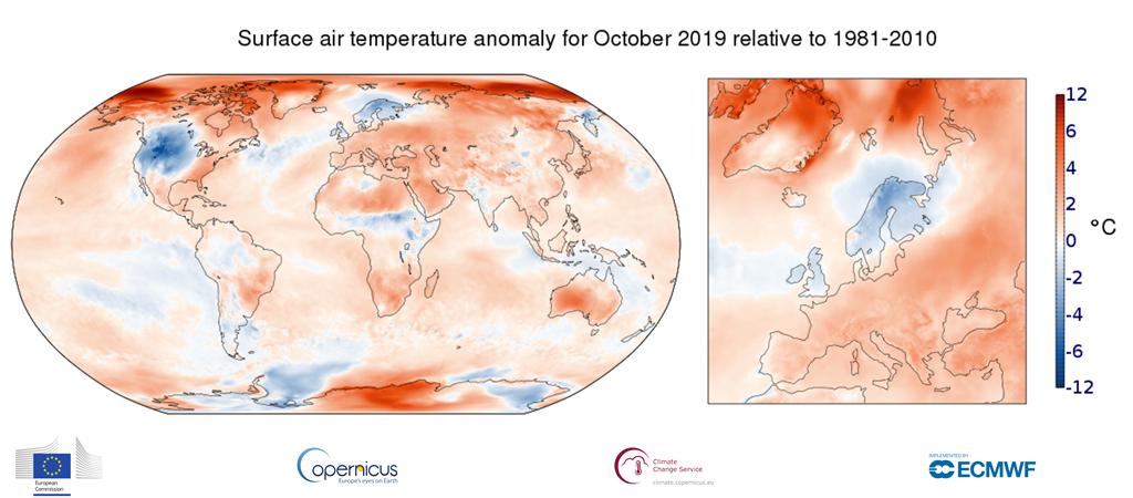 ottobre 2019 temperature