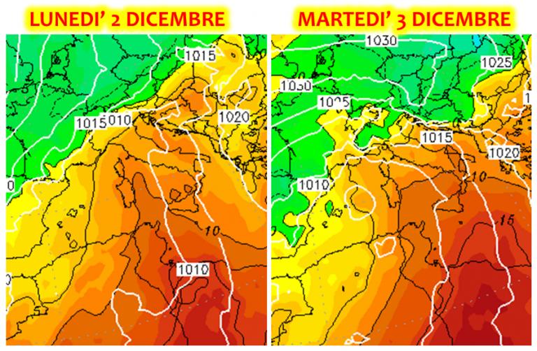 Le previsioni meteo per l'inizio della prossima settimana: nuova tempesta sull'Italia, forti venti di scirocco e caldo anomalo