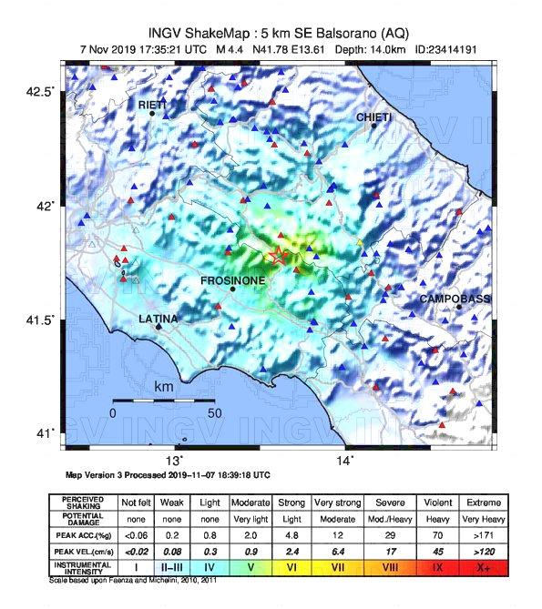 terremoto balsorano