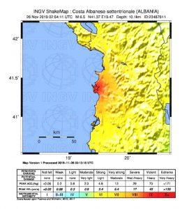 terremoto oggi albania puglia campania basilicata