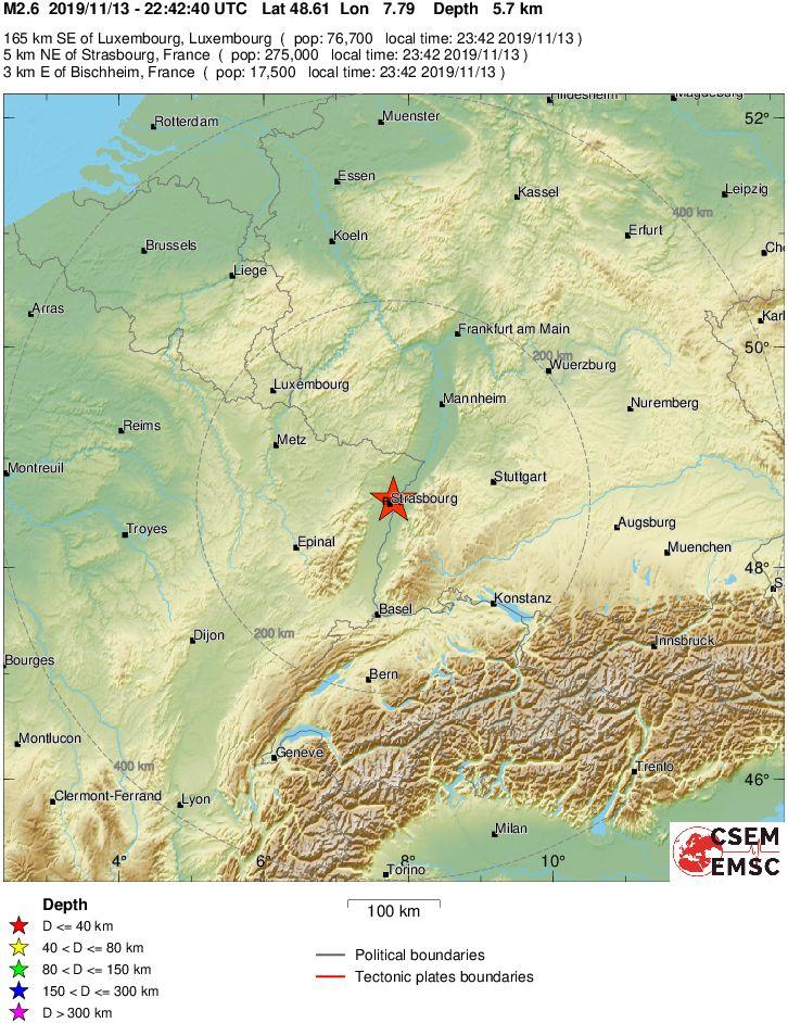 terremoto strasburgo