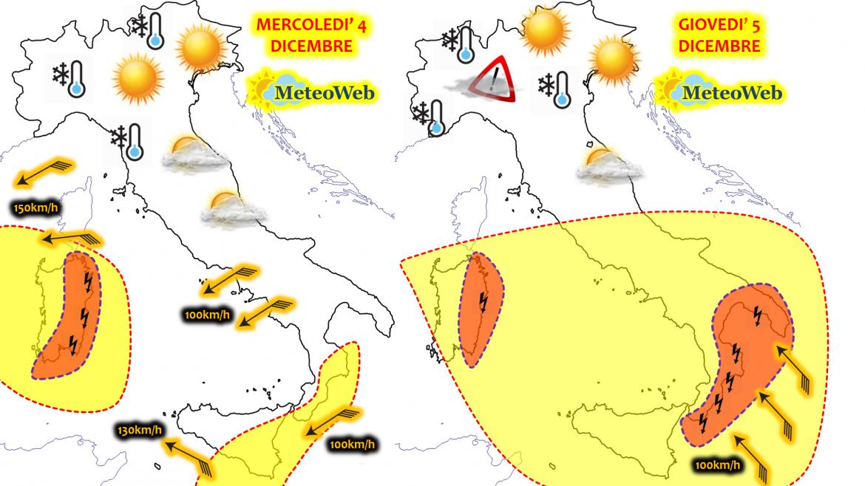 Allerta Meteo Italia Ciclone 4 5 Dicembre 2019