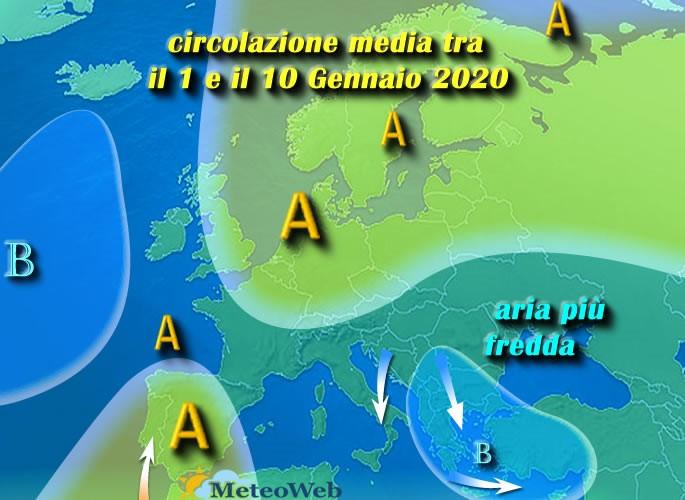 previsioni meteo 1 10 Gennaio