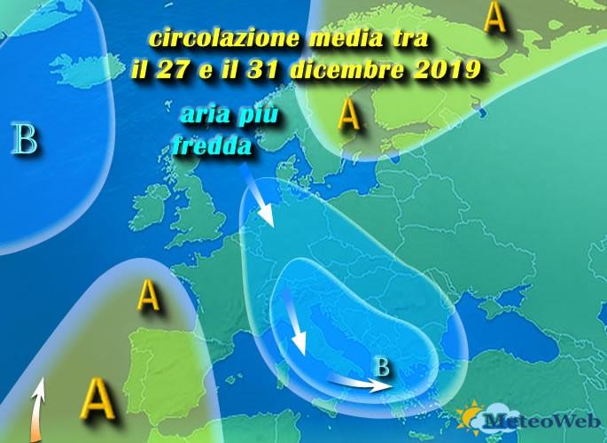 previsioni meteo 27 31 Dicembre