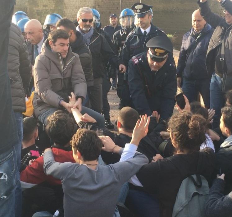 protesta napoli cop21 mare