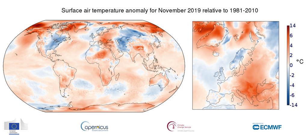 temperature novembre 2019