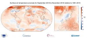 temperature settembre novembre 2019