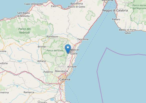 terremoto etna milo catania