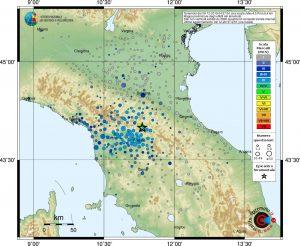 terremoto sciame sismico mugello