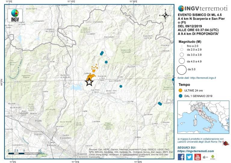 terremoto toscana sciame sismico