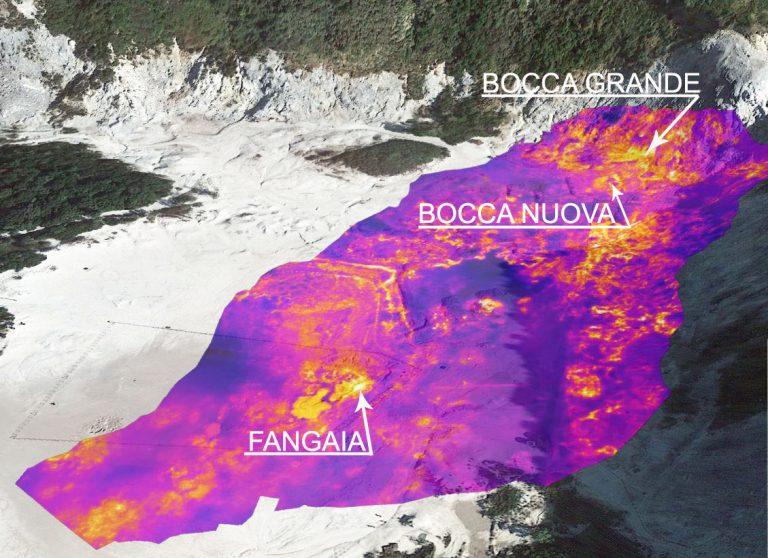 Figura 11 - Isola di Ischia - Misurazioni delle temperature al suolo di zone a intenso degassamento. Immagine: INGV - Osservatorio Vesuviano.