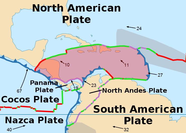 Schema geologico della regione colpita, con le principali faglie attive (By Alataristarion – https://commons.wikimedia.org/wiki/File:Tectonic_plates_boundaries_detailed-en.svg, CC BY-SA 4.0, https://commons.wikimedia.org/w/index.php?curid=40001013 )